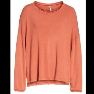 Free People Sweaters - FREE PEOPLE Be Good Terry Pullover in Terracotta